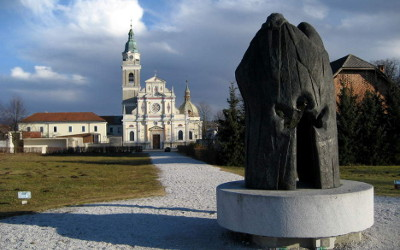 A view of the Basilica of Our Lady of Help at Brezje